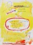 Lot #134: JEAN-MICHEL BASQUIAT - Supercomb - Color offset lithograph