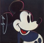Lot #1101: ANDY WARHOL - Mickey Mouse - Color offset lithograph