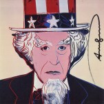 Lot #1547: ANDY WARHOL - Uncle Sam - Color offset lithograph