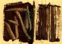 Lot #2128: PIERRE SOULAGES [d'apres] - Composition #2 - Mixed media on paper