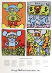 Lot #1190: KEITH HARING - Keith and Andy and Andy Mouse - Color silkscreen