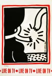 Lot #1150: KEITH HARING - Live on TV - Color offset lithograph
