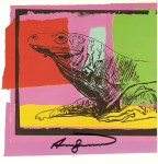 Lot #1946: ANDY WARHOL - Komodo Dragon (Monitor Lizard) - Color offset lithograph