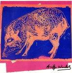 Lot #2023: ANDY WARHOL - Giant Chaco Peccary - Color offset lithograph