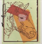 Lot #1860: ANDY WARHOL - Mongolian Wild Horse - Color offset lithograph