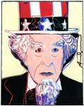 Lot #797: ANDY WARHOL - Uncle Sam - Gouache and watercolor on paper