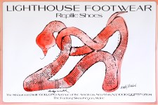 Lot #1154: ANDY WARHOL - Lighthouse Footwear Reptile Shoes - Original color offset lithograph