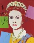 Lot #227: ANDY WARHOL - Queen Elizabeth II (#1) - Color offset lithograph