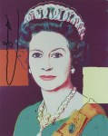 Lot #962: ANDY WARHOL - Queen Elizabeth II (#2) - Color offset lithograph