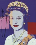 Lot #1735: ANDY WARHOL - Queen Elizabeth II (#4) - Color offset lithograph