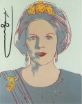Lot #963: ANDY WARHOL - Queen Beatrix (#2) - Color offset lithograph