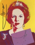 Lot #1736: ANDY WARHOL - Queen Beatrix (#4) - Color offset lithograph
