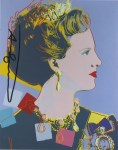 Lot #960: ANDY WARHOL - Queen Margrethe (#1) - Color offset lithograph