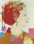 Lot #1734: ANDY WARHOL - Queen Margrethe (#3) - Color offset lithograph