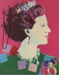 Lot #1733: ANDY WARHOL - Queen Margrethe (#4) - Color offset lithograph