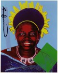 Lot #1732: ANDY WARHOL - Queen Notombi (#2) - Color offset lithograph