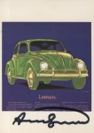 Lot #767: ANDY WARHOL - Volkswagen - Color offset lithograph