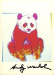 Lot #2022: ANDY WARHOL - Giant Panda - Color offset lithograph