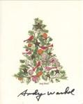 Lot #1376: ANDY WARHOL - Christmas Card: Ornamented Christmas Tree - Original vintage color offset lithograph