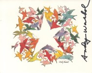 Lot #647: ANDY WARHOL - Christmas card: Star of Wonder - Original vintage color offset lithograph