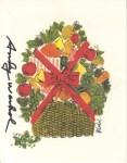 Lot #2146: ANDY WARHOL - Christmas card: Fruit Basket - Original vintage color offset lithograph
