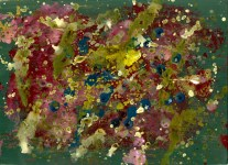 Lot #1544: SAM FRANCIS [d'apres] - Untitled - Acrylic on paper