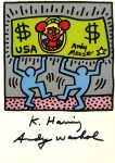 Lot #1469: KEITH HARING & ANDY WARHOL - Andy Mouse II, Homage to Warhol - Color offset lithograph