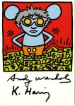Lot #1468: KEITH HARING & ANDY WARHOL - Andy Mouse III, Homage to Warhol - Color offset lithograph