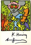 Lot #1467: KEITH HARING & ANDY WARHOL - Andy Mouse IV, Homage to Warhol - Color offset lithograph