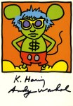 Lot #2229: ANDY WARHOL & KEITH HARING - Andy Mouse I, Homage to Warhol - Color offset lithograph