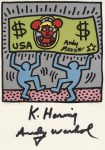 Lot #2228: ANDY WARHOL & KEITH HARING - Andy Mouse II, Homage to Warhol - Color offset lithograph
