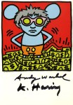 Lot #2227: ANDY WARHOL & KEITH HARING - Andy Mouse III, Homage to Warhol - Color offset lithograph