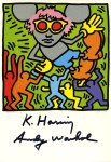Lot #2226: ANDY WARHOL & KEITH HARING - Andy Mouse IV, Homage to Warhol - Color offset lithograph