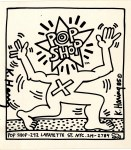 Lot #1758: KEITH HARING - Pop Shop Sticker - Offset lithograph