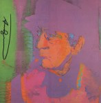 Lot #391: ANDY WARHOL - Man Ray #1 - Color offset lithograph