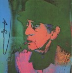 Lot #1135: ANDY WARHOL - Man Ray #2 - Color offset lithograph