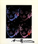 Lot #1267: ANDY WARHOL - Four Multicolored Marilyns #1 - Color offset lithograph