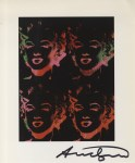 Lot #1266: ANDY WARHOL - Four Multicolored Marilyns #2 - Color offset lithograph