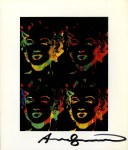 Lot #1265: ANDY WARHOL - Four Multicolored Marilyns #3 - Color offset lithograph