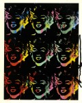 Lot #1061: ANDY WARHOL - Nine Multicolored Marilyns #2 - Color offset lithograph