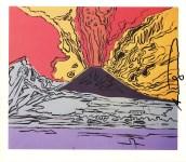 Lot #1533: ANDY WARHOL - Vesuvius #01 - Color offset lithograph