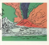 Lot #777: ANDY WARHOL - Vesuvius #04 - Color offset lithograph