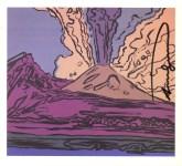 Lot #776: ANDY WARHOL - Vesuvius #08 - Color offset lithograph