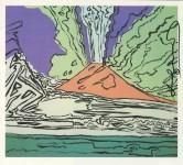 Lot #1529: ANDY WARHOL - Vesuvius #09 - Color offset lithograph