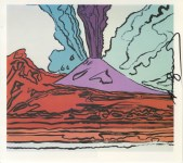 Lot #775: ANDY WARHOL - Vesuvius #10 - Color offset lithograph