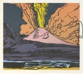 Lot #774: ANDY WARHOL - Vesuvius #11 - Color offset lithograph