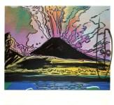 Lot #1528: ANDY WARHOL - Vesuvius #13 - Color offset lithograph