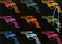 Lot #2010: ANDY WARHOL - Guns #01 - Color offset lithograph