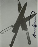 Lot #1188: ANDY WARHOL - Knives #03 - Color offset lithograph