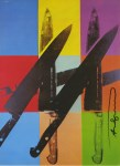 Lot #1186: ANDY WARHOL - Knives #11 - Color offset lithograph